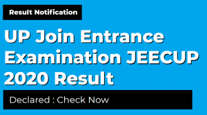 UP Join Entrance Examination JEECUP 2020 Result